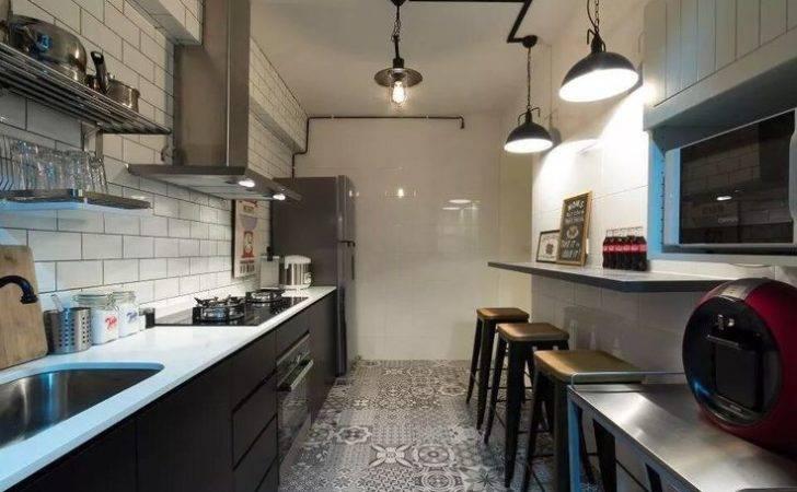 Kitchen Trolley Bricks Design Interiors Cement Tiles Kitchens Diy Home