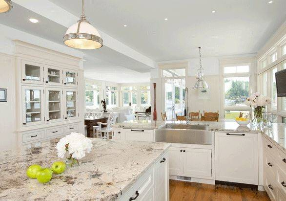 Kitchen White Granite Ideas Countertops Design