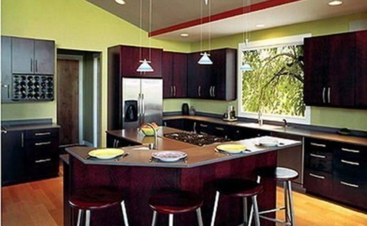 Kitchens Green Walls Kitchen Dark Cabinets