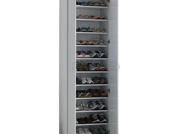 Klass Tall Shoe Cabinet White Item Code