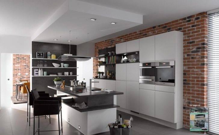 Klimexmilano Loft Red Brick Veneer Modern Kitchen Application