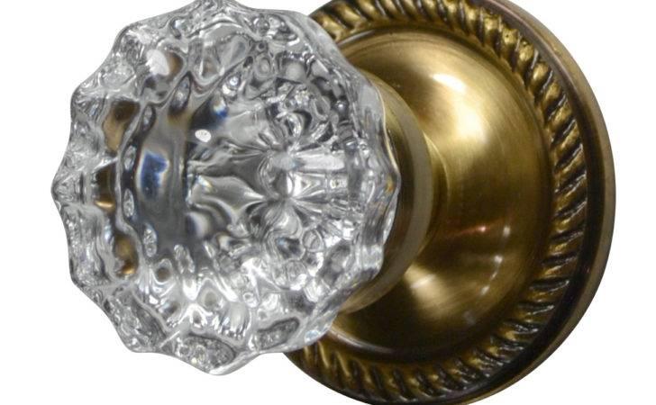 Knob Sets Crystal Fluted Door Georgian Roped Plate Antique