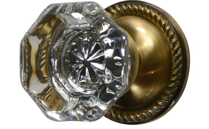 Knob Sets Crystal Octagon Door Georgian Roped Plate Antique