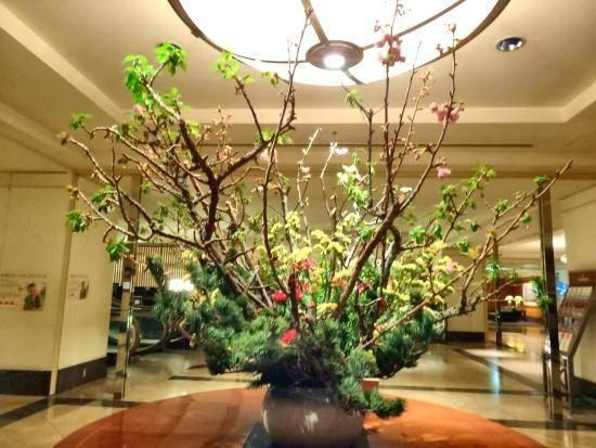Kobe Bay Sheraton Hotel Towers Lobby Plants