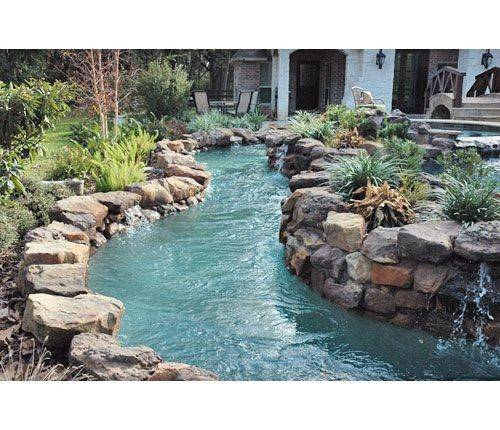 Labor Done Own Personal Lazy River Backyard