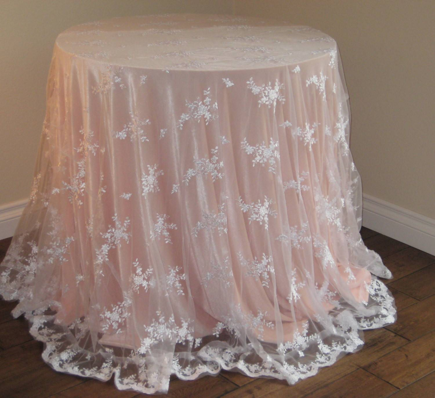 Lace Wedding Tablecloth White Moderncelebrations Etsy