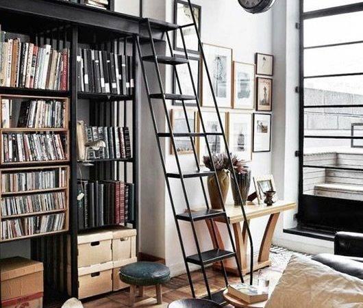 Ladder Library Cozy Home Shelves Modern