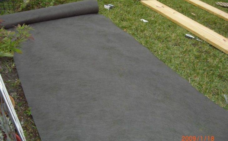 Laid Weed Barrier Fabric Down Digging Grass Removal