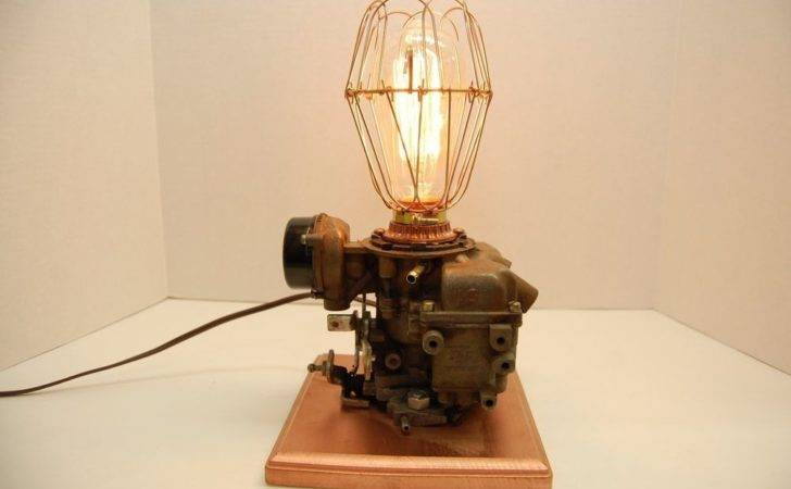 Lamp Upcycled Repurposed Steampunk Mancave Industrial Light Ebay