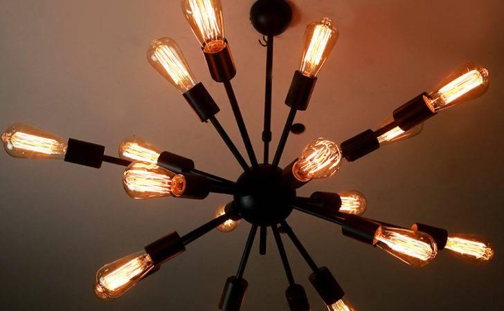 Lamps Industrial Wind Bar Cafe Black Widow Satellite Chandelier