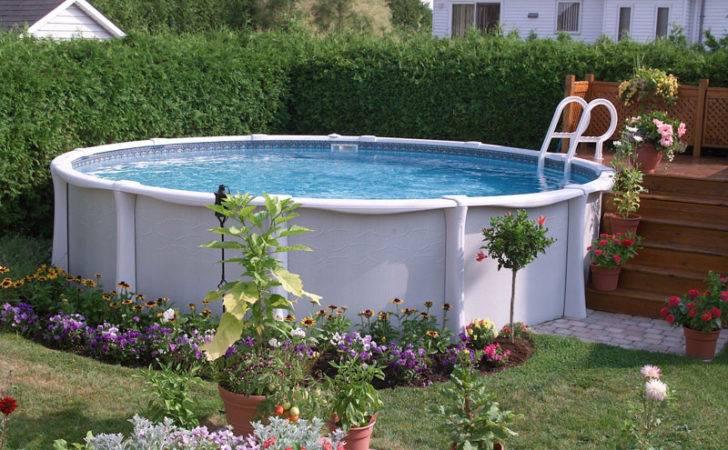 Landscape Around Pool Home Pinterest