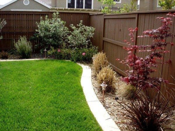Landscapes Regard Fence Line Landscaping Ideas Source