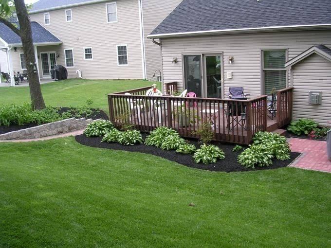 Landscaping Area Around Decks Shrubs