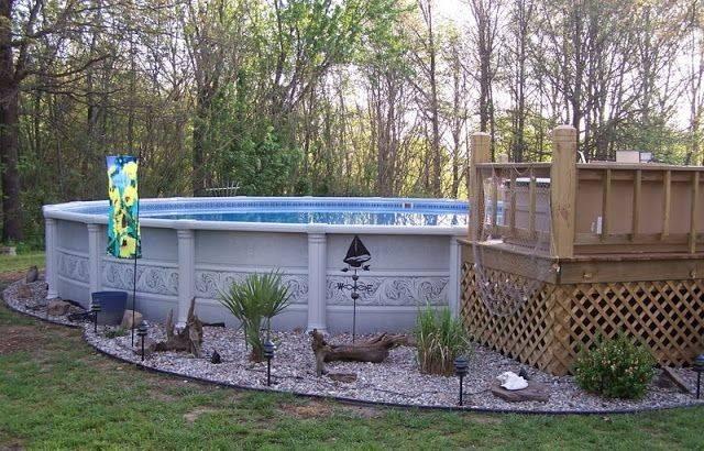 Landscaping Around Pool Hot Tub Backyard Swimming
