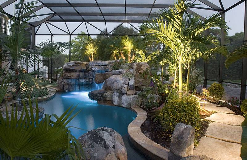 Landscaping Around Swimming Pools Tropical Plants Sarasota