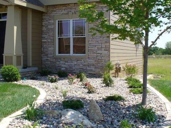 Landscaping Backyard Ideas River Rock Gardens Garden Bed