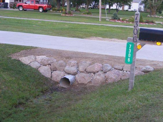 Landscaping Driveway Landscape Rock Wall