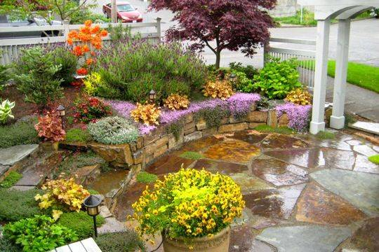 Landscaping Front Yard Tuscan Ideas Landscape