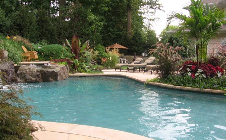 Landscaping Ideas Around Pools Swimming Pool