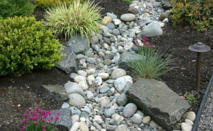 Landscaping River Rock Dry Garden Ideas