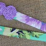 Lanyard Seafoam Green Purple Floral Gingham