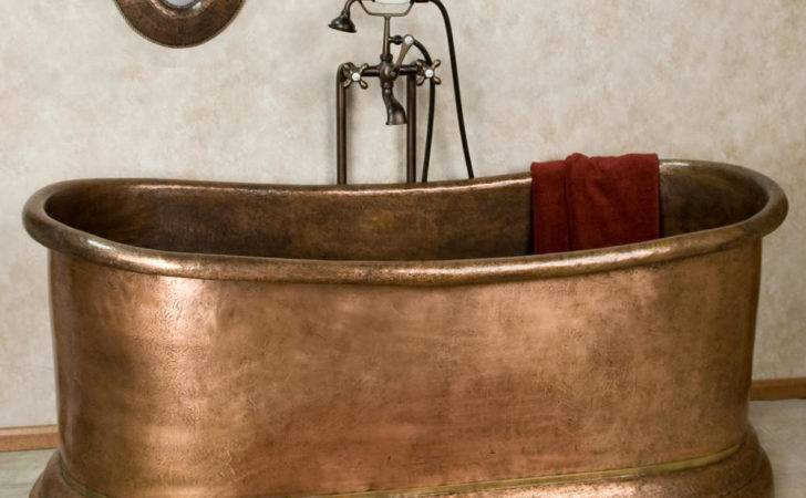 Lara Hammered Copper Double Slipper Tub Ebay