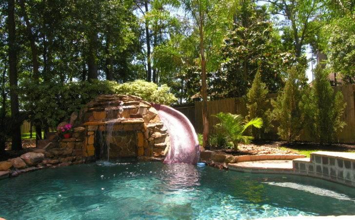 Large Backyard Fantastic Kids Retreat Pool Waterfalls