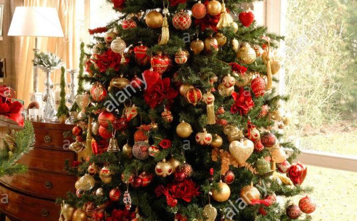 Large Christmas Tree Decorated Balls
