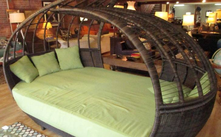 Large Cocoon Canopy Asian Daybed Sold Ballard Consignment