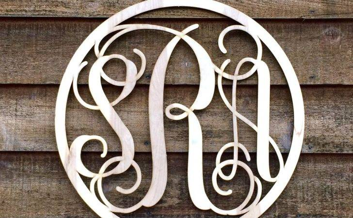 Large Inch Round Wooden Monogram Wood Letters Nursery