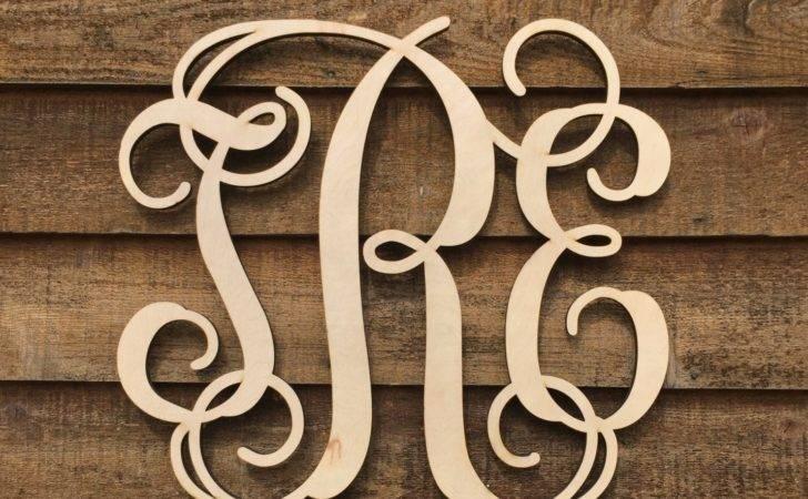 Large Inch Unpainted Wooden Monogram Wood Letters