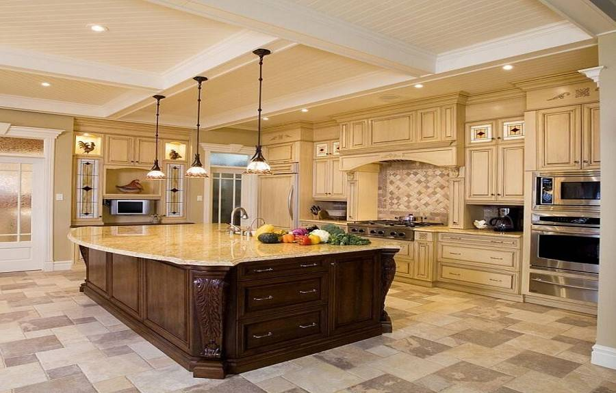 Large Kitchen Luxury Design Ideas