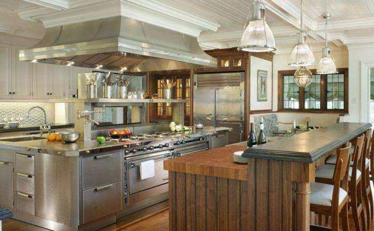 Large Kitchen Room Italian Restaurant Design Types Bed