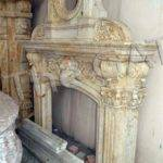 Large Marble Fireplace Mantel Includes Decorative Over