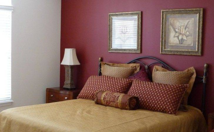 Large Master Bedroom Red Accent Wall Paint New Abbey Model