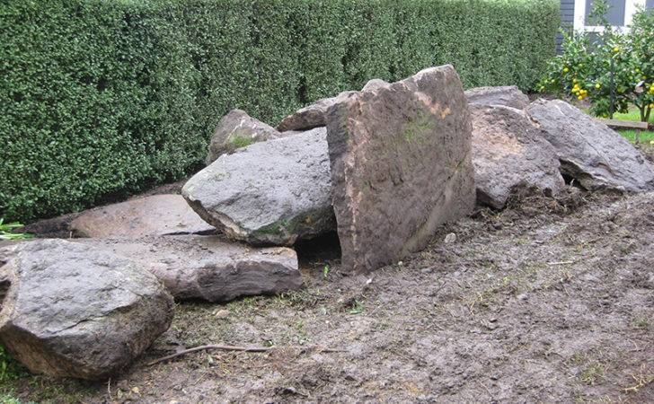 Large Rocks Used Upwey Garden Designed Melbourne