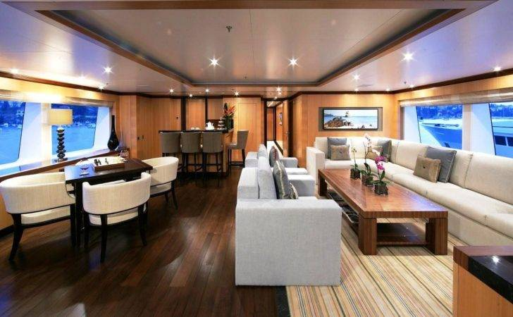Large Version Contemporary Motor Yacht Interior Amnesia