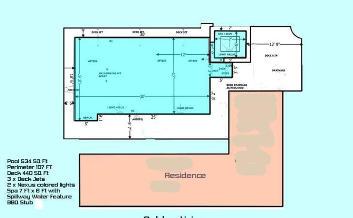 Large Wide Pool Spa Deck Jets Designed