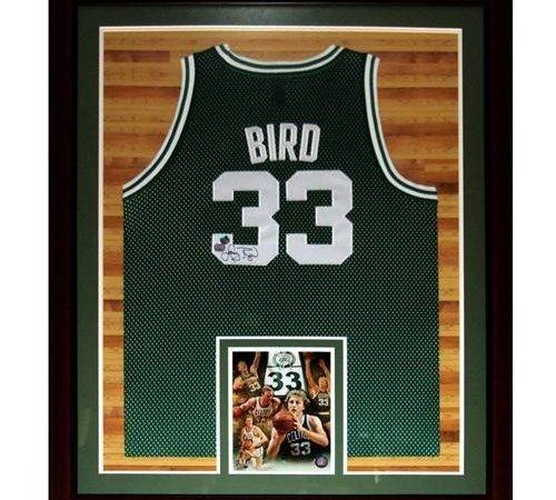 Larry Bird Autographed Jersey Pre Framed Holo