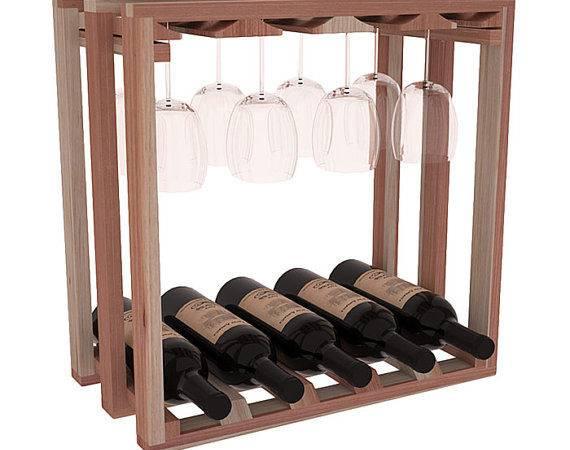 Lattice Stemware Wine Rack Kit Pine Stains Choose