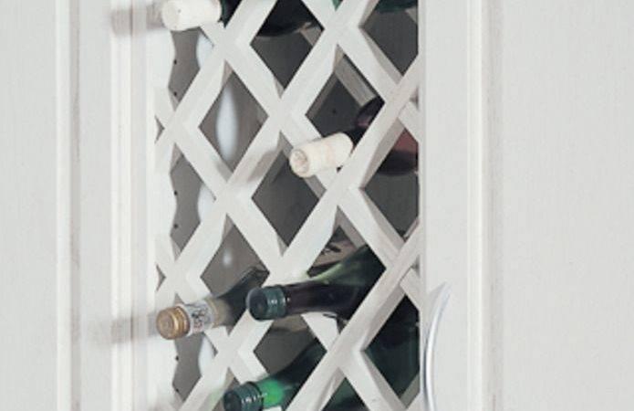Lattice Wine Rack Over Refrigerator Make
