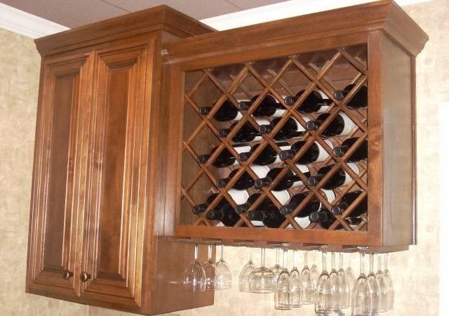 Lattice Wine Rack Stemware Wood