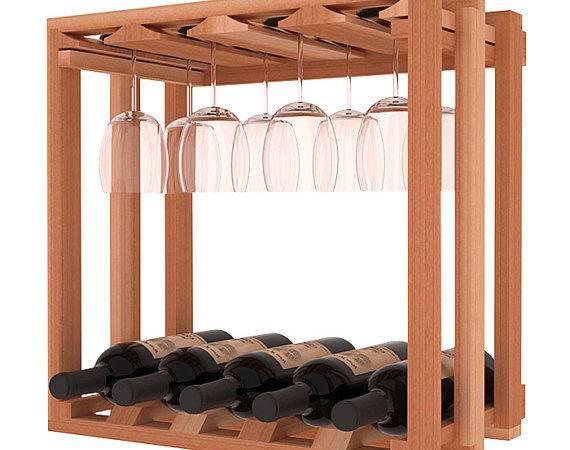 Lattice Wine Stemware Storage Rack Kit Redwood Stains Choose