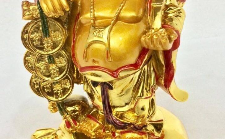 Laughing Buddha Happy Man Chinese Feng Shui Kuberar Statue