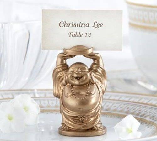 Laughing Buddha Place Card Holder Set Kate Aspen