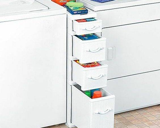 Laundry Storage Between Washer Dryer Shelf Drawers