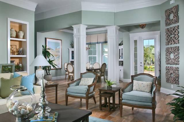 Laurel Cottage Coastal Design Tropical Living Room Other