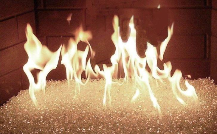 Lbs Clear Fireglass Fireplace Fire Pit Glass Ebay