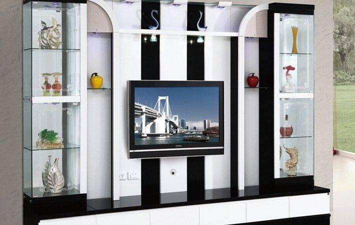 Lcd Wall Units Furniture Modern Living Room Mini Bar
