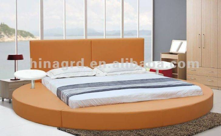 Leather Soft White Round Bedroom Furniture Sale Cheap